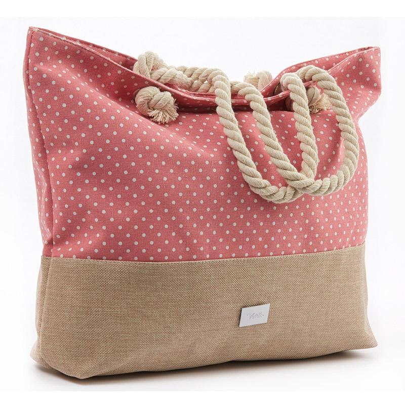 10571417138 Τσάντα θαλάσσης Verde 14-00000022-Pink - Γυναικειες τσαντες , Ανδρικες  τσαντες