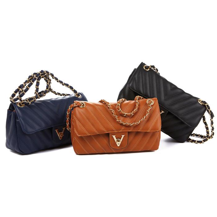 Τσάντα γυναικεία καπιτονέ Verde 16-4314-Μπλε - Γυναικειες τσαντες ... 12bf8eee099