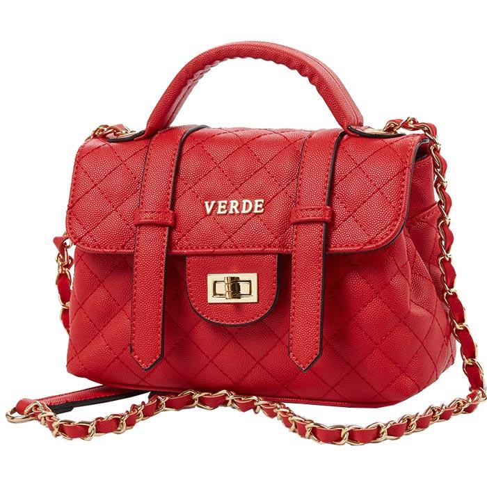 Τσάντα γυναικεία καπιτονέ Verde 16-4623-Κοκκινο - Γυναικειες τσαντες ... d315b874f9d