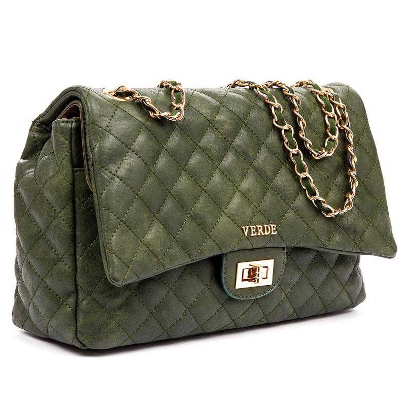 941db4afbd Τσάντα Ωμου καπιτονέ Verde 16-4866-Πρασινο - Γυναικειες τσαντες ...