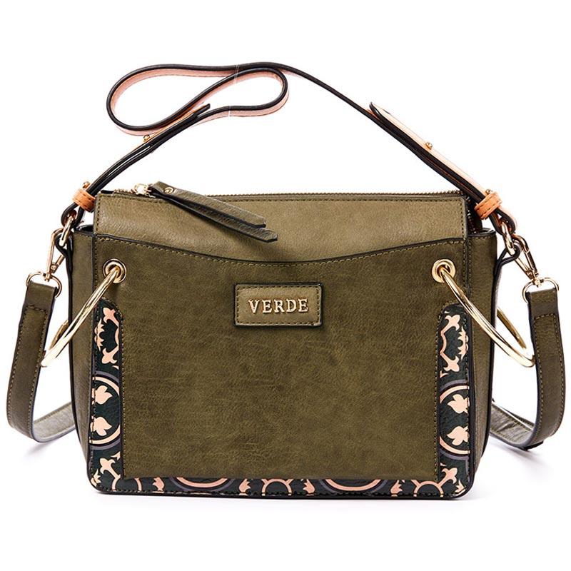 Τσάντα γυναικεία Ωμου Verde 16-4883-Χακι - Γυναικειες τσαντες ... 24463e3603e