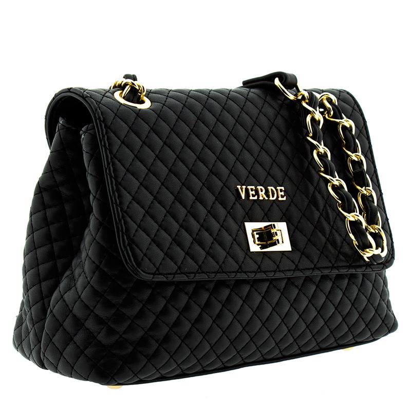 077ed47f05 Τσάντα γυναικεία Ωμου καπιτονέ Verde 16-5136-Μαύρο - Γυναικειες τσαντες