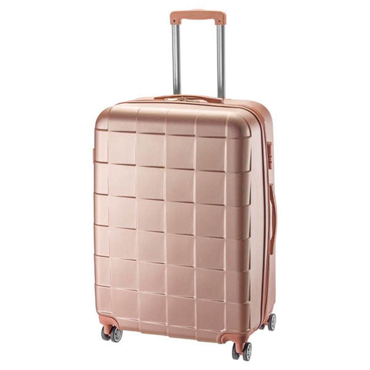 10c0fe3595 Βαλίτσα σκληρή ABS Μεγάλη με επέκταση Rcm 18-001-76-Ροζ - Γυναικειες τσαντες