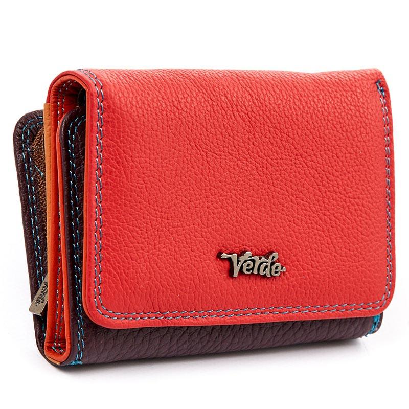 Πορτοφόλι γυναικείο δέρμα Verde 18-895-Κοκκινο - Γυναικειες τσαντες ... 03d7185f796