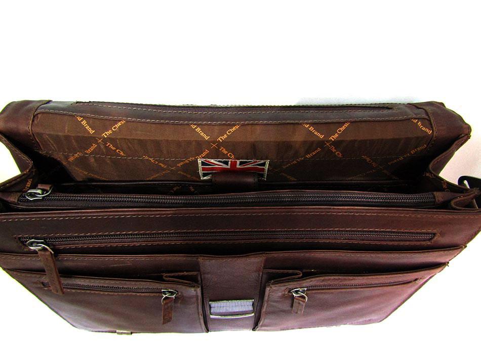 Επαγγελματική τσάντα δέρμα Chesterfield c48.012801-Καφε - Γυναικειες ... 46bb83c8f6e
