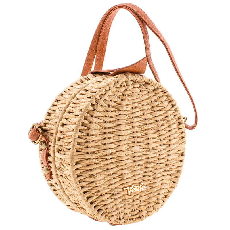 5a5ec13156 Τσάντα Ωμου Ψάθινη Verde 48-0000004-Taupe - Γυναικειες τσαντες ...