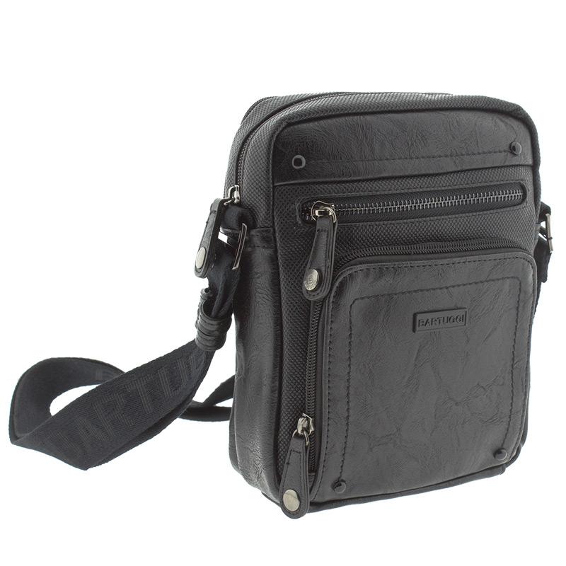 Ανδρική τσάντα ωμου Bartuggi 82-711-6682-Μαύρο - Γυναικειες τσαντες ... aac27a2a66e