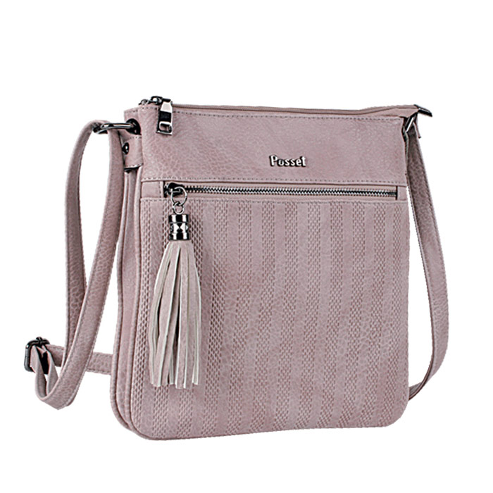 09108432ad Τσάντα γυναικεία χιαστί Posset 7046-Ροζ - Γυναικειες τσαντες ...