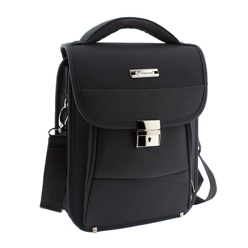 Τσάντα Ωμου Ύφασμα Diplomat BL210-Μαυρο - Γυναικειες τσαντες ... a462208aafb