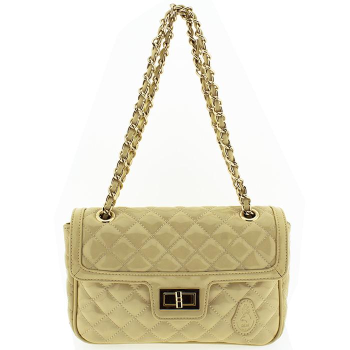 23a4fde18f Τσάντα γυναικεία δέρμα Dim C84360-Μπεζ - Γυναικειες τσαντες ...